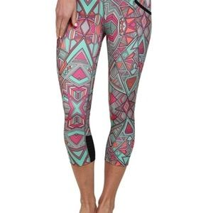 Asics Womens Cleo Pop? Capri Geotribal Print - Pants
